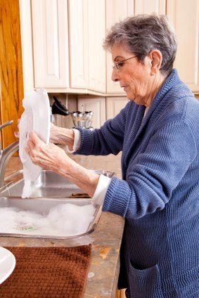 Fiery Grandma Cleans House Before Leaving on Vacation