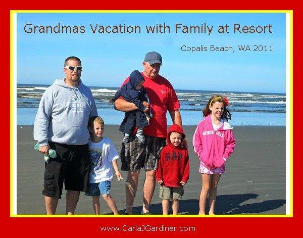 Grandma Vacations with Family at Resort