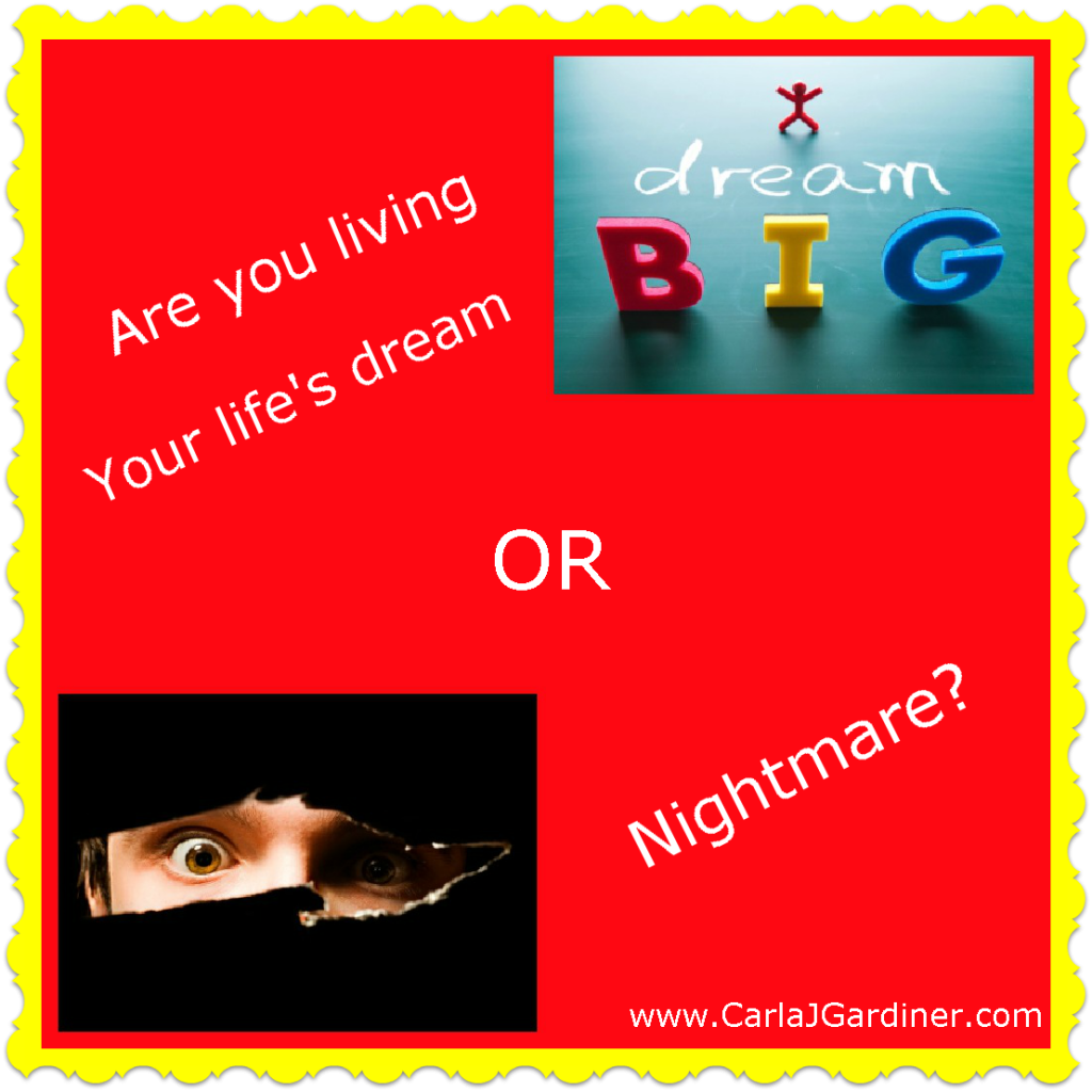 Are you living your lifes dream or nightmare