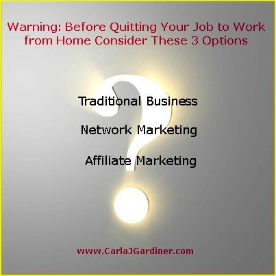 Warning: Before Quitting Your Job to Work from Home Consider These 3 Options