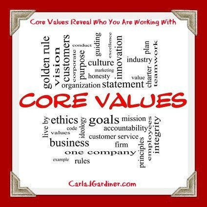 Core Values Reveal Who You Are Working With