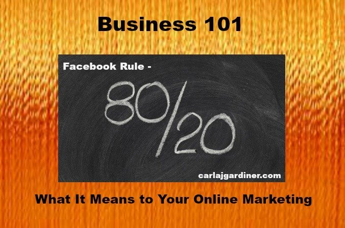 Business 101 – 80/20 Rule What it Means for Your Online Marketing