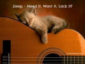 Sleep Need It Want It Lack It